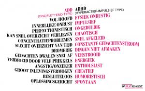 Enkele kenmerken ADD & ADHD